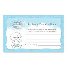 baby shower advice cards baby boy personalized baby shower helpful hint advice cards