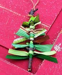 great craft idea ribbon scraps to rustic twigs