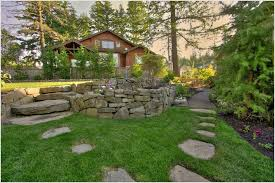 backyard rock garden large landscaping landscape with large rocks