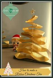 simply christmas guest post u2013 ribbon christmas trees shabby art