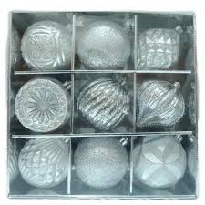 home accents 130 mm ornament set in silver 9 count c