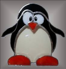 cheryl sept stained glass penguin stained glass
