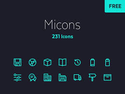 icon design software free download free download micons 230 tiny outlined icons icons and icon set