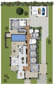5 Bedroom Floor Plans 1 Story by Best 10 House Plans With Pool Ideas On Pinterest Sims 3 Houses