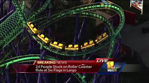 Six Flags Highest Ride Six Flags Roller Coaster Gets Stuck With Dozens Of Riders On Board
