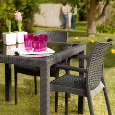 Pvc Outdoor Chairs 5pcs Keter Outdoor Pvc Wicker Dining Table Furniture W Stackable