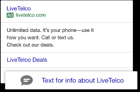 Conversational Text Messaging Solutions - click to message liveperson