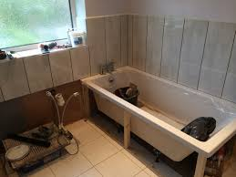 Installing Bathtub Bathroom Installation Leeds Roundhay Tiling Around A Bath With In