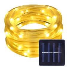 Solar String Lights For Gazebo by 16 5ft Solar Lights Warm White 3000k Waterproof For Christmas