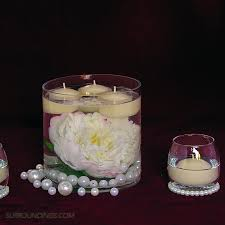 candle centerpieces pearls in cylinder floating candle centerpiece