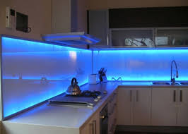 Cheap Kitchen Lighting Ideas - amazing kitchen ideas with soft blue led lighting and white