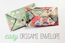 how to fold an envelope easy origami envelope instructions