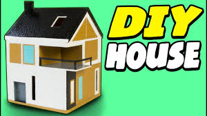 diy cardboard house scandinavian craft ideas for kids on box
