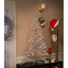 silver tinsel christmas tree silver christmas trees you ll wayfair