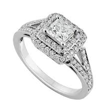 diamond ring 18ct white gold 0 85 carat princess cut diamond ring