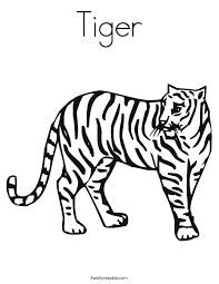 Tiger Coloring Page Twisty Noodle Coloring Pages Tiger