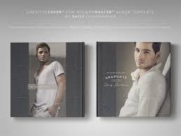 10x10 album senior photography album cover template masculine