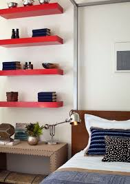 bedroom wall shelving ideas simple functional and space saving floating wall shelving ideas