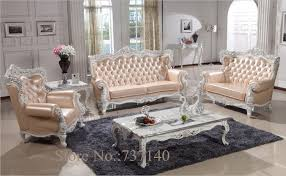 Grey Leather Living Room Set Sofa Set Living Room Furniture Wood And Genuine Leather Living