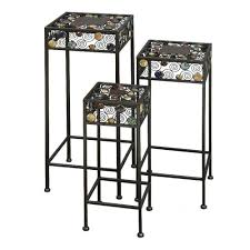 end table black 24 ore international cobraco plant stand planter stands planter accessories the