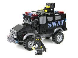 lego police jeep basic armored police swat truck battle brick custom set