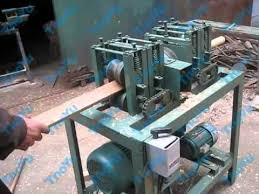 Used Woodworking Machinery In India by Round Wood Mop And Broom Stick Forming Machine Youtube