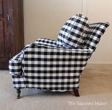Slipcovered Arm Chair Beautiful Buffalo Check Slipcover The Slipcover Maker