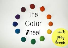 color wheel with play dough