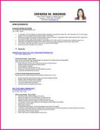 sample resume ojt accounting students cv examples and live cv