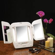 jerdon style euro design tri fold lighted mirror jerdon style euro design tri fold lighted mirror jgl10w jcpenney