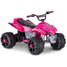 sport atv 12v battery powered ride on pink walmart com