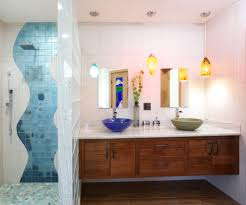 pendant lighting fixtures bathroom contemporary with blue shower