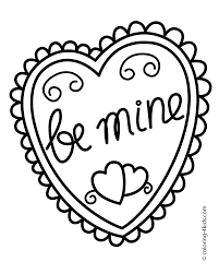 heart printable coloring pages teddy bear bears and valentine