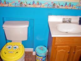 exceptional spongebob bathroom decor with kids shower curtain