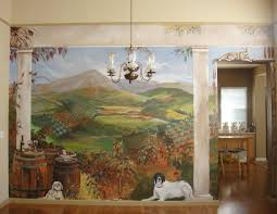 Wall Murals 3d Tuscan Wall Murals Area Mural Artist Marion Hatcher Paints 3d