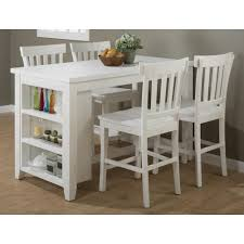 counter height table with storage jofran madaket reclaimed pine counter height table set with 3 shelf