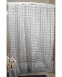 amazing deal vision exchange checkered sheer white shower curtain