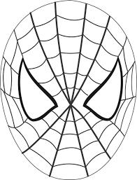 spiderman face outline