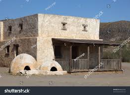 abandoned residential house mexican pueblo village stock photo