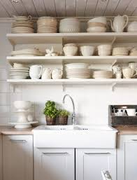 open style kitchen cabinets the advantages of open shelves storage option in kitchen at hometren