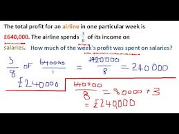functional skills maths level 2 work with fractions youtube