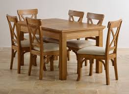 Oak Dining Table And Fabric Chairs Oak Table And Chairs Nurani Org