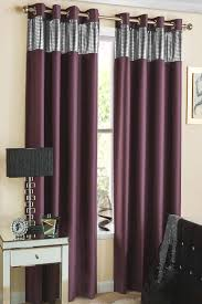 Sparkle Window Curtains by Ibiza Readymade Thermal Blockout Eyelet Curtains Aubergine For