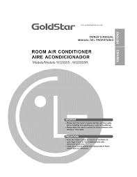 goldstar air conditioner wg5005r user guide manualsonline com