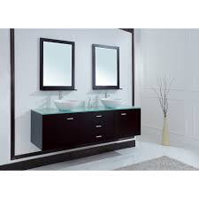 wall mounted sink cabinet luna 72 inch wall mounted double sink vanity glass top espresso finish