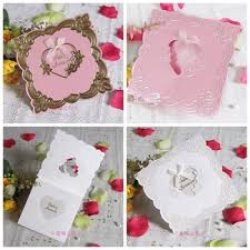pink white gold wedding buy flower wedding bridal invitations card korean wedding