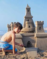 how to build a sand castle martha stewart