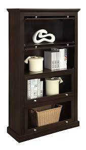 amazon com altra alton alley 4 shelf barrister bookcase espresso