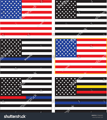 Us Military Flags Vector Collection United States Flags Representing Stock Vector