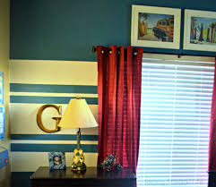 blue and white striped painted walls stylish nautical inspired